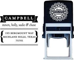 Three Designing Women - Custom Self-Inking Stamps #CS-H10006S