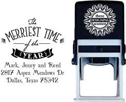 Three Designing Women - Custom Self-Inking Stamps #CS-H10008S