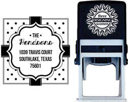 Three Designing Women - Custom Self-Inking Stamps #CS-H10014S