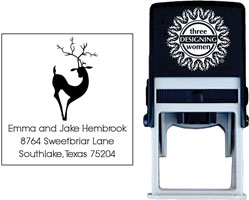 Three Designing Women - Custom Self-Inking Stamps #CS-H10017S