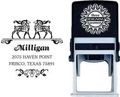 Three Designing Women - Custom Self-Inking Stamps #CS-H10018S