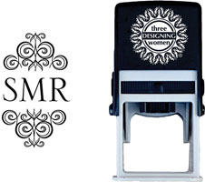 Three Designing Women - Custom Self-Inking Stamps #CS-M10010S