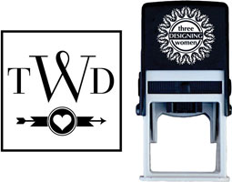 Three Designing Women - Custom Self-Inking Stamps #CS-M10011S