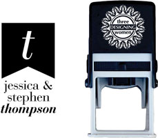Three Designing Women - Custom Self-Inking Stamps #CS-M10026S