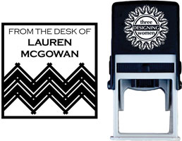 Three Designing Women - Custom Self-Inking Stamps #CS-S10008S