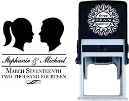 Three Designing Women - Custom Self-Inking Stamps #CS-W10016S