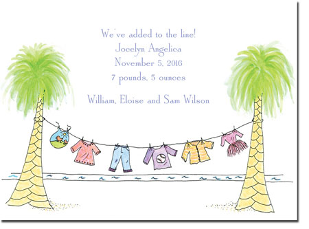 Blue Mug Designs Birth Announcements - Tropical Baby