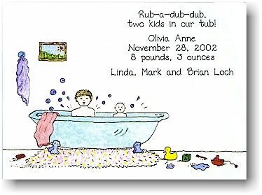 Blue Mug Designs Birth Announcement - What a Splash!