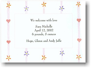Blue Mug Designs Birth Announcement - Sweet Dreams Pink
