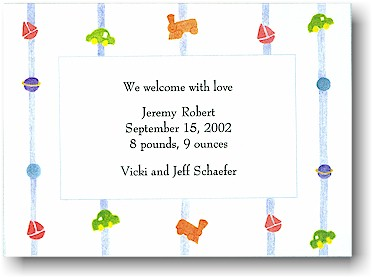 Blue Mug Designs Birth Announcement - Sweet Dreams Blue
