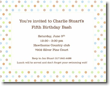 Boatman Geller - Blue Multi Confetti Birth Announcements/Invitations