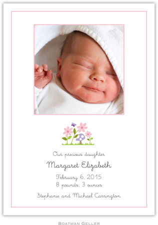 Boatman Geller - Bloom Photo Birth Announcements & Invitations