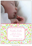Boatman Geller - Emma Floral Pink Photo Birth Announcements & Invitations (#20601)