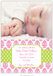 Boatman Geller - Beti Pink Photo Birth Announcements & Invitations (#21610)