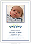 Boatman Geller - Ribbon Navy Photo Birth Announcements & Invitations (#22602)