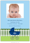Boatman Geller - Charming Pram Navy Photo Birth Announcements & Invitations (#22606)