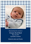Boatman Geller - Baxter Check Photo Birth Announcements & Invitations (#22609)