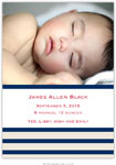 Boatman Geller - Nautical Stripe Photo Birth Announcements & Invitations (#22610)