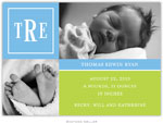 Boatman Geller - Peyton Cornflower Photo Birth Announcements & Invitations (#22616)