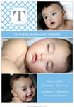 Boatman Geller - Bristol Petite Blue Photo Birth Announcements & Invitations (#22618)