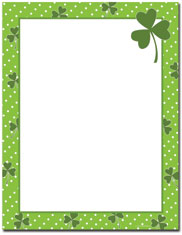 Imprintable Blank Stock - Clover Dots Letterhead by Great Papers