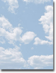 Imprintable Blank Stock - Clouds Letterhead by Masterpiece Studios