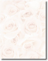 Imprintable Blank Stock - Blush Roses Letterhead by Masterpiece Studios