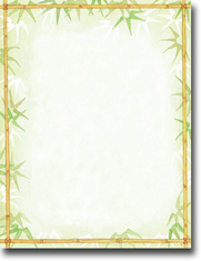 Imprintable Blank Stock - Bamboo Leaves Letterhead by Masterpiece Studios