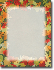 Masterpiece Studios Imprintable Blank Stock - Translucent Leaves Letterhead (972701)