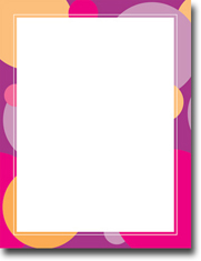 Imprintable Blank Stock - Bubbles Letterhead by Masterpiece Studios