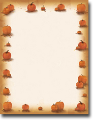 Masterpiece Studios Imprintable Blank Stock - Pumpkin Harvest Letterhead (972788)