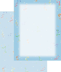 Imprintable Blank Stock - Party Streamers Letterhead by Masterpiece Studios