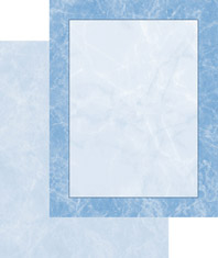 Imprintable 2-Sided Blank Stock - Blue Marble 2-Sided Letterhead by Masterpiece Studios