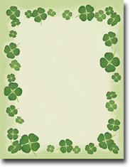 Imprintable Blank Stock - Four Leaf Clovers Letterhead by Masterpiece Studios