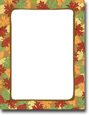 Masterpiece Studios Imprintable Blank Stock - Artistic Leaves Letterhead (972863)