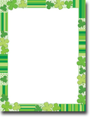 Imprintable Blank Stock - Green Clovers Letterhead by Masterpiece Studios