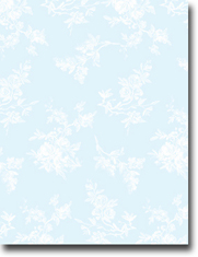 Imprintable Blank Stock - Blue Toile Letterhead by Masterpiece Studios
