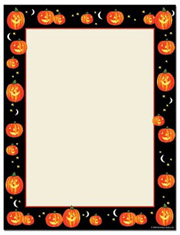 Masterpiece Studios Imprintable Blank Stock - Pumpkin Patch Letterhead (9740026)