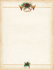 Imprintable Blank Stock - Antique Horns Letterhead by Masterpiece Studios