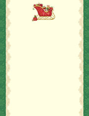 Imprintable Blank Stock - Filled Sleigh Letterhead by Masterpiece Studios