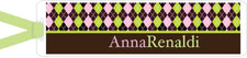 I&#39;m Inkpressed Bookmarks - Argyle Woman (Holiday Papers #BM-1202)