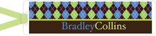 I&#39;m Inkpressed Bookmarks - Argyle Men (Holiday Papers #BM-1208)