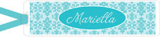 I&#39;m Inkpressed Bookmarks - Aqua Pattern (Holiday Papers #BM-1222)