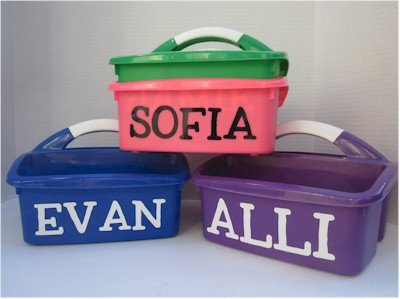 Personalized Camp Caddy for Camp