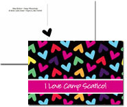 iDesign Postcards - Rainbow Hearts (Camp)