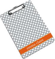 Devora Designs - Clipboards (Grey Carrot Dots)