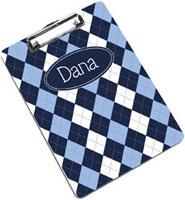 Devora Designs - Clipboards (Blue Argyle) BARGL-CLPB