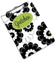 Devora Designs - Clipboards (Black Lime Floral) BLACKLIME-CLPB