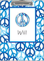 Kelly Hughes Designs - Clipboards (Peace Out Blue) (c390)