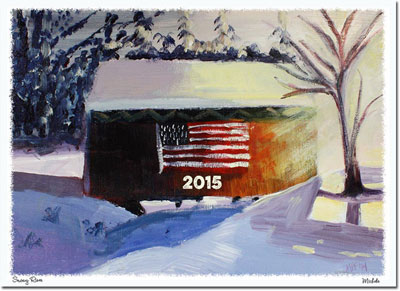 Another Creation by Michele Pulver Holiday Greeting Cards - Snowy River